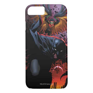 Batman u. Robin-Flug über Gotham iPhone 8/7 Hülle