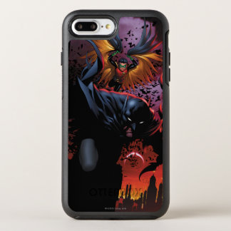 Batman u. Robin-Flug über Gotham OtterBox Symmetry iPhone 8 Plus/7 Plus Hülle