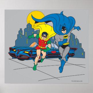 Batman und Robin-Betrieb Posterdruck