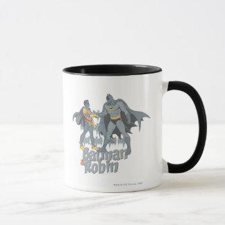 Batman und Robin beunruhigte Grafik Tasse