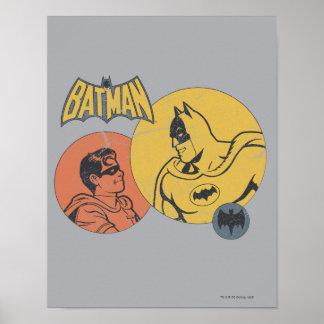 Batman und Robin-Grafik- beunruhigt Posterdrucke