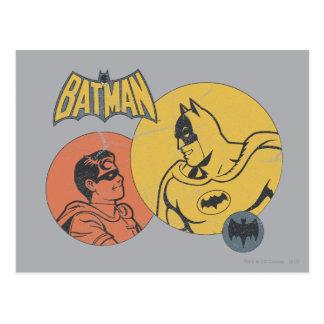 Batman und Robin-Grafik- beunruhigt Postkarten