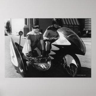 Batman und Robin in Batcycle Poster