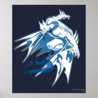 Batman-Wasser-Tonal Collage Poster