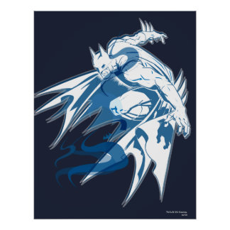 Batman-Wasser-Tonal Collage Posterdruck