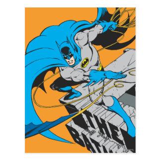 Batman-Würfe Batarang auf Dachspitze Postkarte