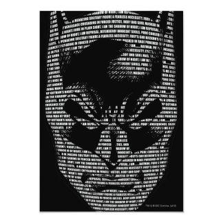 BatmanhauptBeschwörungsformel 12,7 X 17,8 Cm Einladungskarte
