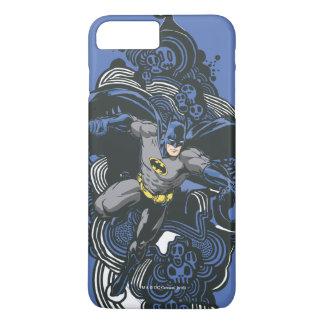 Batmanschädel-/-tinten-Gekritzel 2 iPhone 8 Plus/7 Plus Hülle