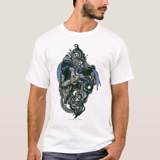 Batmanschädel-/-tinten-Gekritzel 2 T-Shirt