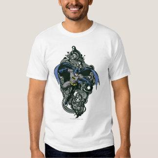 Batmanschädel-/-tinten-Gekritzel 2 T-Shirts