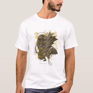 BatmanVintages Grunge-Porträt T-Shirt