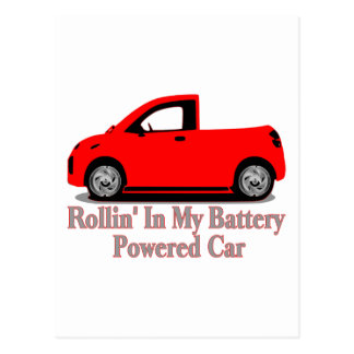 Batterie-Auto Postkarte