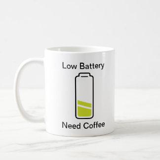 Batterie-Bedarfs-Kaffee Kaffeetasse