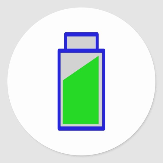 Batteriestatus battery accu status runder aufkleber