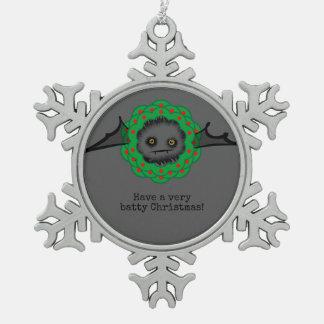 BATTY WEIHNACHTENniedlicher Vampire-Schläger Schneeflocken Zinn-Ornament