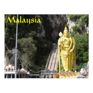 Batu höhlt Statue-Malaysia-Postkarte aus Postkarte