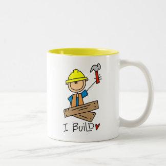 Bau-Arbeitskraft errichte ich T - Shirts und Zweifarbige Tasse