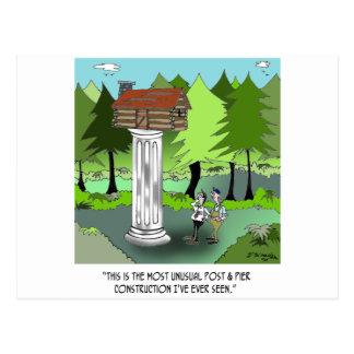 Bau-Cartoon 6369 Postkarte