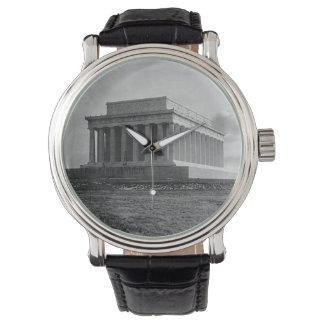 Bau des Lincoln Memorials (1920) Armbanduhr
