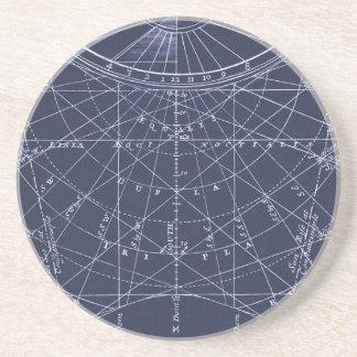 Bau eines Sundial (1700) Sandstein Untersetzer