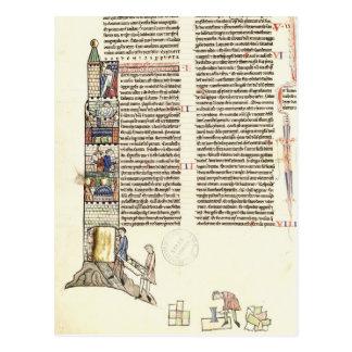 Bau Frau-21 f.167v eines Turms Postkarte