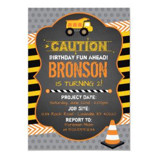Bau-Geburtstags-Party Einladung