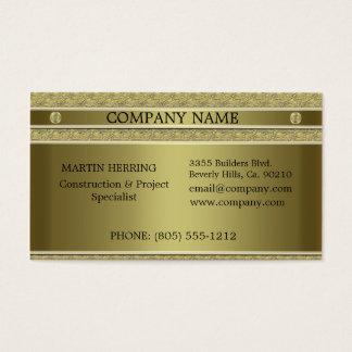 Bau-Goldmetall geprägt Visitenkarte