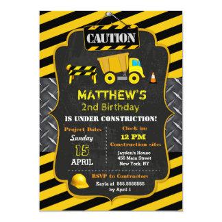 Bau-Kipper-Geburtstags-Einladungen Karte