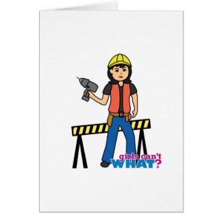 Bau-Mädchen - Medium Karte