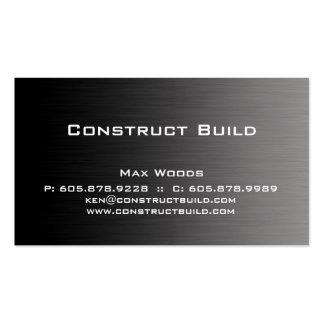 Bau-Metallgeschäfts-Karte beruflich Visitenkarten Vorlagen