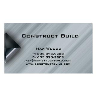 Bau-Metallgeschäfts-Karte berufliche 2 Visitenkarten Vorlagen