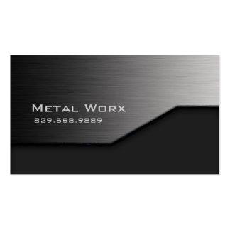 Bau-MetallVisitenkarte-Winkel-Rand-Grau