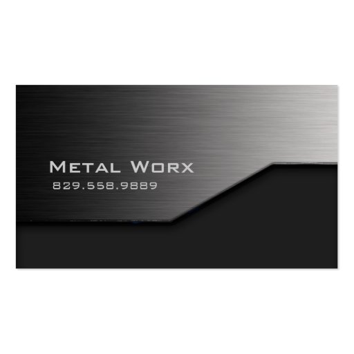 Bau-MetallVisitenkarte-Winkel-Rand-Grau Visitenkarten