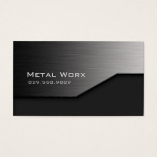 Bau-MetallVisitenkarte-Winkel-Rand-Grau Visitenkarte