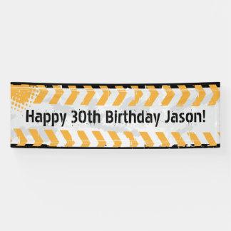 Bau-personalisierte Geburtstags-Fahne Banner