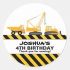 Bau tauscht Geburtstags-Gastgeschenk-Aufkleber Runder Aufkleber