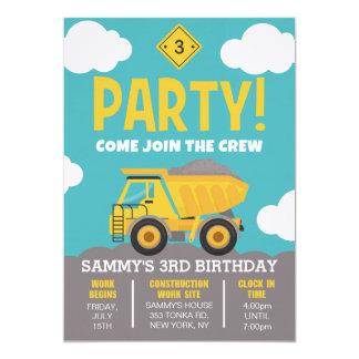 Bau-Themed Party Einladung für Jungen