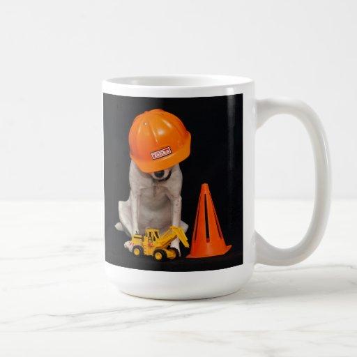 Tassen Hund : Bauarbeiter hund tassen zazzle