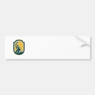Bauarbeiterjackhammer-Bohrgerät-Schild Retro Auto Aufkleber