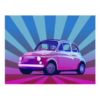 Bauch Fiats 500 Postkarte