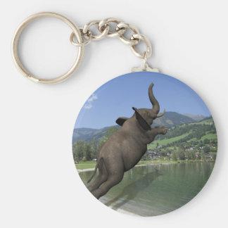 Bauch-Reinfall-Elefant Schlüsselanhänger