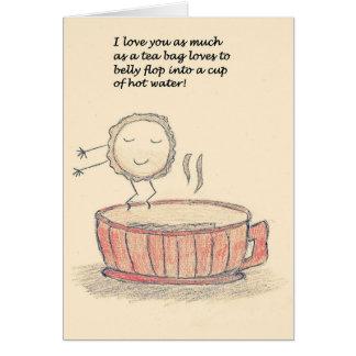 Bauch-Reinfall-Teebeutel-Valentinstag Karte