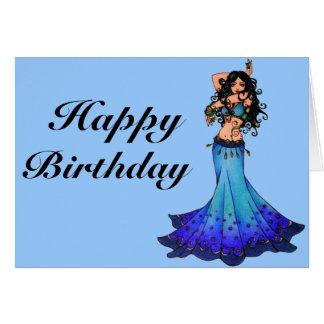 Bauchtänzerin-Geburtstagskarten Grußkarte