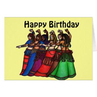 Bauchtänzerin-Geburtstagskarten Karte