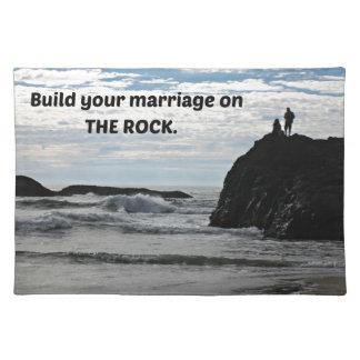 Bauen Sie Ihre Heirat auf dem Felsen auf Tisch Sets