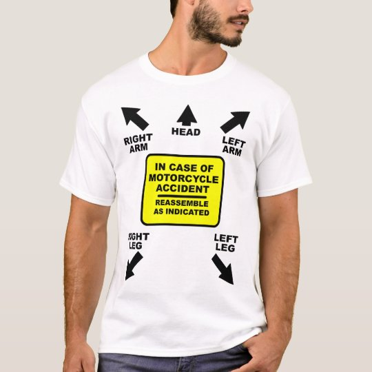 Bauen Sie Motorrad-Unfall-lustigen Shirt-Spaß T-Shirt