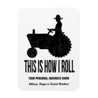 Bauer auf Traktor dieses ist, wie ICH ROLLE Recchteckiger Magnet