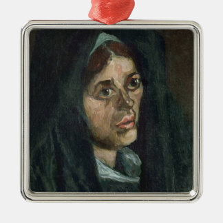 Bauer Vincent van Goghs   mit Moosgrünschal Silbernes Ornament