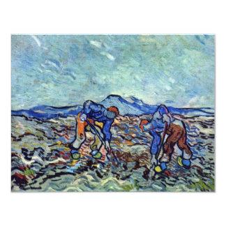Bauern bei der Arbeit durch Vincent van Gogh Einladungen