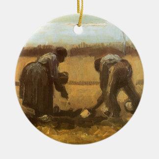 Bauern, die Kartoffeln durch Vincent van Gogh Keramik Ornament